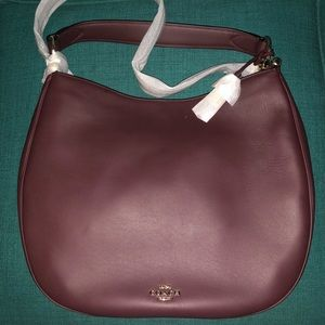 New with tags Coach Mae Hobo in Oxblood